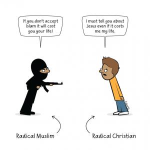 Radikale mennesker finnes desverre i alle former og religioner.